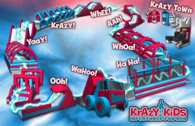 Krazy Kids Inflatable Fun Run Course Map